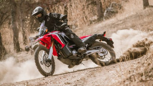 Honda CRF250 Rally Motorcycle - riding to Chelsea