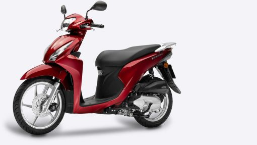 Honda Vision 110 Scooter - red colour, parked, London