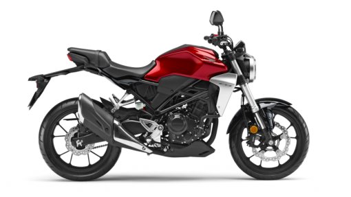 Honda CB300R road motorbike - Candy Chromosphere Red colour
