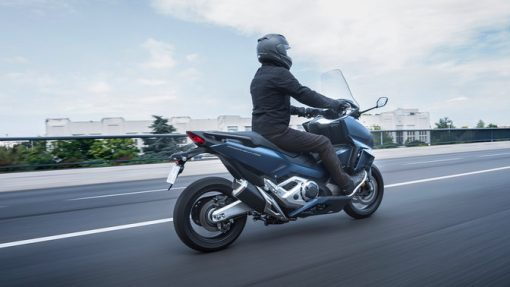 Honda Forza 750 scooter 2021 back - riding to Chelsea
